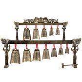 合金編鐘家居擺件雙層雙龍編鐘仿古樂器