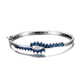 手環 925純銀鑲鑽-氣質百搭生日情人節禮物女手鍊6色73fg35【時尚巴黎】