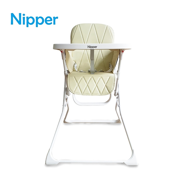 【Nipper】Fold and Go 秒收高腳餐椅-香檳金