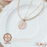 項鍊 韓國直送愛麗絲鐘錶造型項鍊-Ruby s 露比午茶