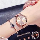 流行女錶新品女士手錶學生正韓簡約潮流時尚防水個性大氣石英女錶 XW