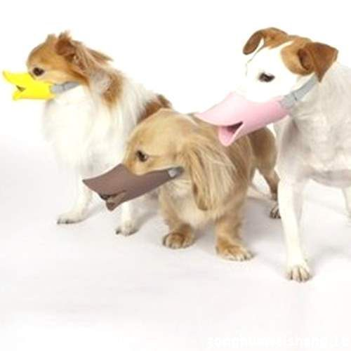 【🐱🐶培菓寵物48H出貨🐰🐹】寵物訓練口罩》日本流行鴨嘴套M號顏色隨機出貨