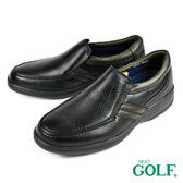 【GOLF】手工氣墊休閒皮鞋 黑色(GF2216-BL)