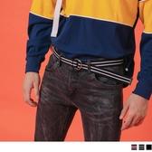 《ZB0736》簡約配色/純色率性雙環腰帶 OrangeBear