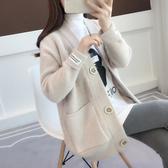 很仙的秋冬毛衣女外套衫2019春裝新款韓版寬鬆中長款針織女開衫厚