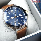 TIMEX 天美時 美式風格 個性真皮錶帶 數字腕錶 咖啡色 日期顯示 男錶 TW2R64500AA