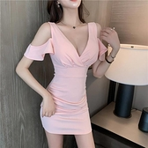 夜店洋裝 夜店女裝露肩顯瘦性感連身裙-Ballet朵朵