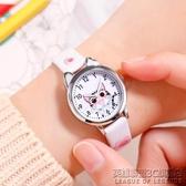 兒童手錶女小學生初中韓版防水可愛復古少女指針式卡通電子石英表 英雄聯盟