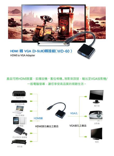 HDMI to VGA轉接線-無音源版