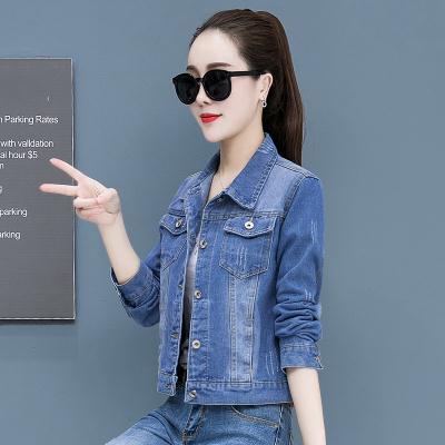 機車牛仔外套~藍色牛仔外套女 韓版學生長袖夾克 網紅百搭顯瘦上衣 8201MC046莎菲娜