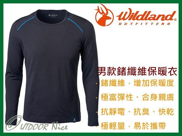 ╭OUTDOOR NICE╮荒野WILDLAND 男款輕量鍺纖維親膚保暖衣 0A62668 黑色 排汗衣 衛生衣 運動上衣