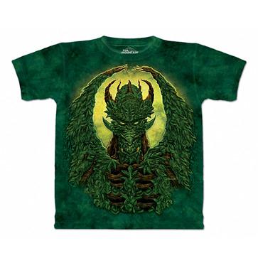 【摩達客】 (預購) 美國進口【The Mountain】自然純棉系列 綠惡魔 設計T恤(1049045326a)