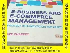 二手書博民逛書店E-BUSINESS罕見AND E-COMMERCE MANAG