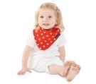 紐西蘭 Mum 2 Mum 雙面時尚造型口水巾圍兜-點點/紅 (4個月~3歲) 吃飯衣 口水衣 防水衣
