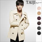 毛呢大衣【NTJBF01】日韓風格‧英倫雙排釦中長修身款雙排釦毛呢大衣外套‧八色‧復古/m65/素面