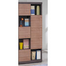 【森可家居】柚木雙色隔間書櫃(右向) 8SB233-4 北歐工業風 書櫥 木紋質感 MIT台灣製造