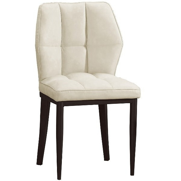 餐椅 QW-710-16 鳴蟬白色皮餐椅【大眾家居舘】