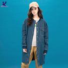 【秋冬降價款】American Bluedeer - 韓風圓領牛仔外套(魅力價) 秋冬新款