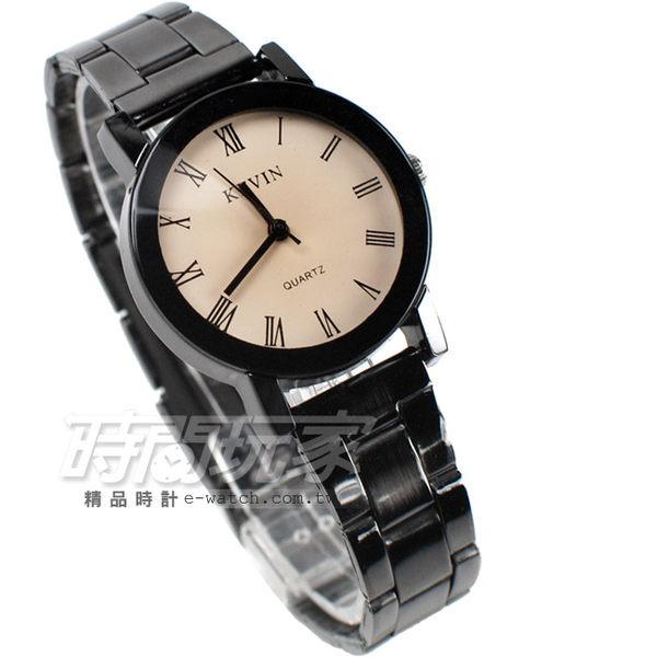 KEVIN 羅馬數字時刻 時尚腕錶 IP黑電鍍 女款 漸層 KEV2068羅馬小