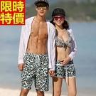 情侶款海灘褲(單件)-性感豹紋兩側口袋男女沙灘褲2色66z8【時尚巴黎】