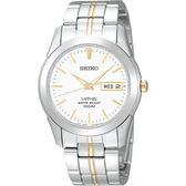 【台南 時代鐘錶 SEIKO】精工 SGG719J1@7N43-0AR0KS 簡約俐落設計腕錶 白/銀 38mm 公司貨開發票