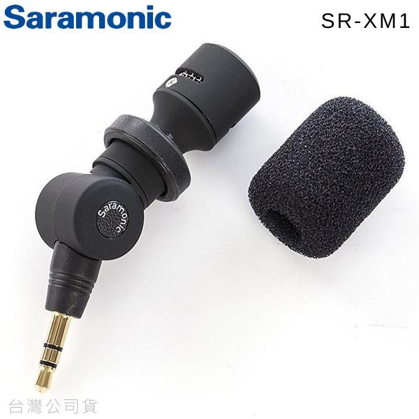 EGE 一番購】SARAMONIC【SR-XM1】TRS 全向性麥克風 for 單眼相機 錄影機【公司貨】