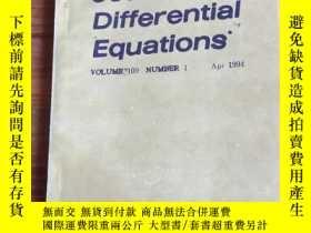 二手書博民逛書店journal罕見of differential equatio