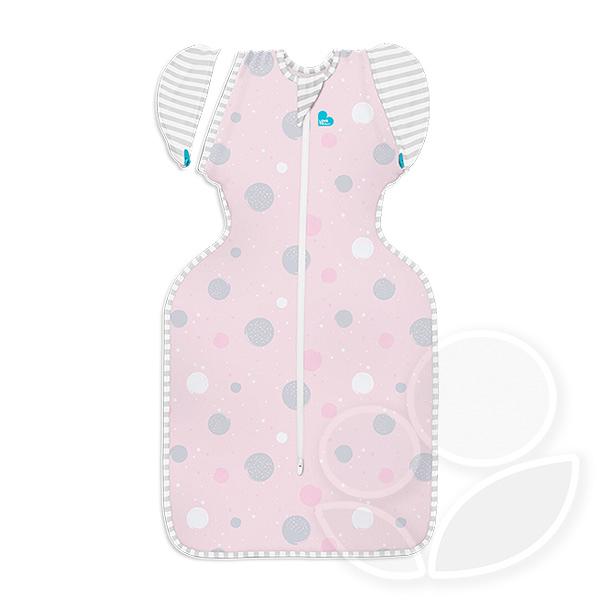 澳洲 Love To Dream TRANSITION BAG 專利蝶型包巾 Stage2 可拆袖輕薄款睡袋-粉點-M【佳兒園婦幼館】