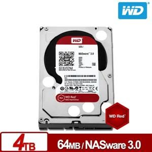 WD40EFRX 紅標 4TB 3.5吋NAS硬碟(NASware3.0)