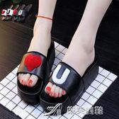新款夏季女款厚底涼拖鞋家居浴室洗澡塑料厚底防滑室內居家鞋 樂芙美鞋