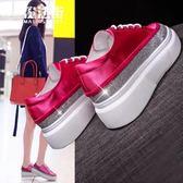 小白鞋女2018新款時尚百搭韓版厚底鬆糕休閒鞋學生板鞋單鞋潮 魔法街