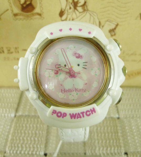 【震撼精品百貨】Hello Kitty 凱蒂貓~手錶-亮白玫瑰【共1款】
