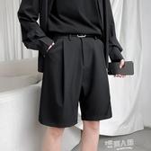 夏季5分西褲男直筒寬鬆韓版潮流英倫港風百搭休閒潮西裝五分短褲
