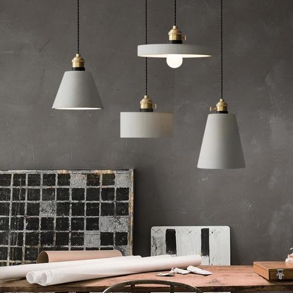 北歐水泥工業風復古創意個性簡約吧台臥室床頭餐廳單頭小【快速出貨】