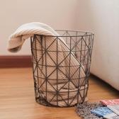 北歐鐵藝臟衣籃衣物收納籃臟衣服洗衣筐家用