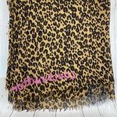 BRAND楓月 LOUIS VUITTON 401910 豹紋 絲巾 圍巾 披肩 70%喀什米爾羊毛