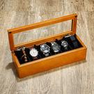 手錶盒木質制玻璃天窗手錶盒手串鍊首飾品收納盒展示盒子 六表位【熱銷88折】
