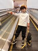 小童裝男童長袖高領T恤洋氣秋冬裝加絨加厚打底衫兒童韓版潮寶寶