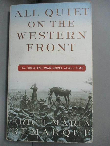 【書寶二手書T1/原文小說_MGX】All Quiet on the Western Front_Erich Maria Remarque, Remarque