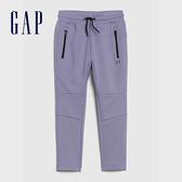 Gap男幼童 棉質舒適鬆緊腰休閒褲 488948-紫錐花