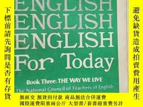 二手書博民逛書店罕見外文書 English for today book thr