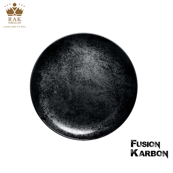 RAK Porcelain FUSION Karbon系列 7吋星空黑圓盤