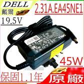 DELL 變壓器(原廠)戴爾 19.5V,2.31A,45W,XPS 12  ,XPS 13,GM456, PA-1450-01D, LA45NS0-00,PA-20, 0JHJX0