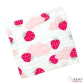 泡泡六層紗布小方巾 五入組 草莓 | 背巾方巾 (嬰幼兒童/寶寶/新生兒/baby)