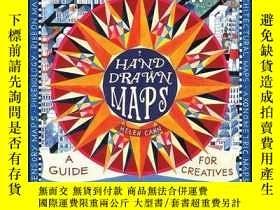 二手書博民逛書店thames罕見Hand-Drawn Maps,手繪地圖 英文原版藝術繪畫地圖設計thamesY335736