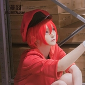 cosplay紅色假發工作細胞cos赤血球紅細胞【步行者戶外生活館】