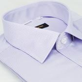 【金‧安德森】紫色條紋窄版短袖襯衫