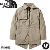 【The North Face 女 長版防風夾克《米色》】497Z/防潑水/防風外套/風衣