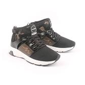 【南紡購物中心】【PUHU彪琥】網布高筒輕量動能運動鞋-男款黑