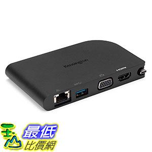 [美國直購] Kensington K33969WW 充電座 SD1500 USB-C Mobile Docking Station with HDMI/VGA, USB 3.0 & Gigabit